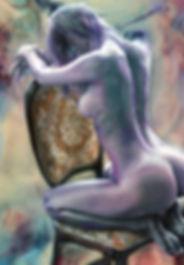 Female Nude Pastel painting