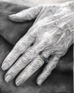 """Beloved Grandmother's Hand"" #stabilo pa"