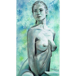 "Figure drawing ""Grace"" Model of The Beau"