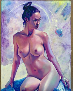 """""""On The Bubble"""" figure drawing of  JANUA"""