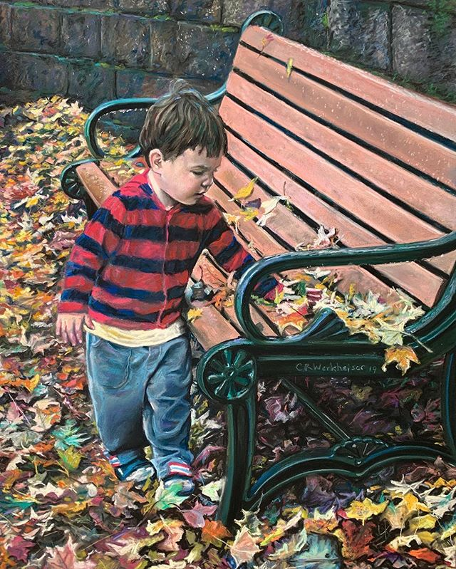 """Malcolm in Leaves""  #Kidportraits  on"