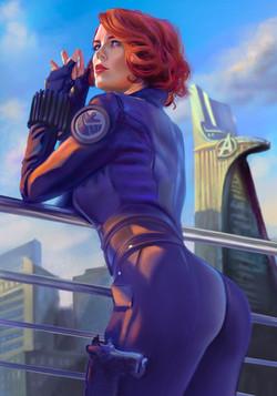 """craigwerk_myartwerk's profile picture craigwerk_myartwerk 'Black Widow"""" Marvel fan art Procreate 5 &"""