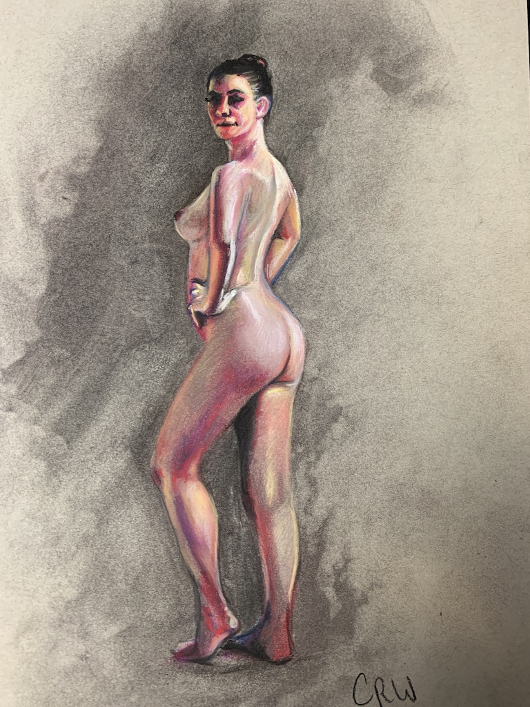 Pastel Drawing Figure