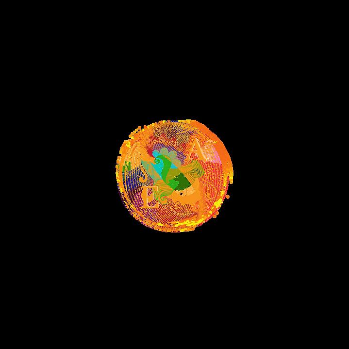 Gold und Blau Dekorativ Kreis Logo(8).pn