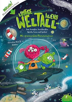 Lustige Weltall-Aliens PDF zum Downloaden, Basteln und Spielen!