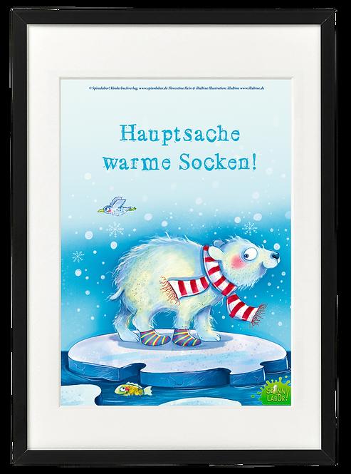 """Kopie von Kopie von Kunstdruck """"Hauptsache warme Socken"""""""