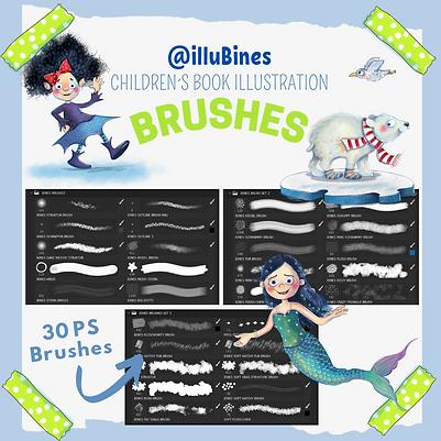 Photoshop Brushes für Kinderbuchillustratoren