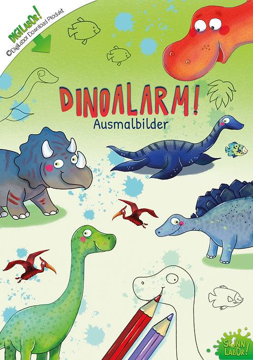 Dinoalarm! Ausmalbilder mit Geschichte