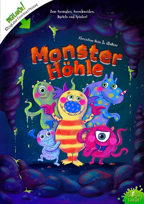 Monsterhöhle PDF zum Downloaden, Basteln und Spielen!