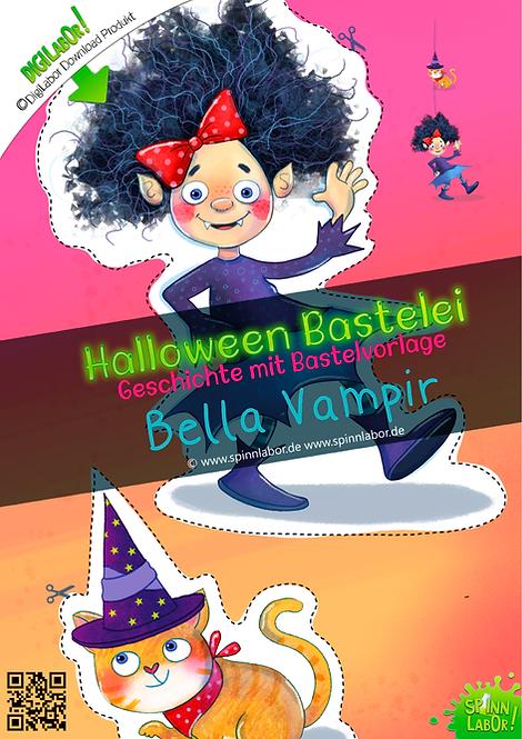 Bella Vampir Halloween Bastelei Bastelbögen zum Downloaden