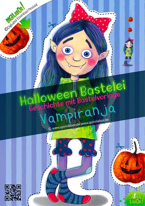 Vampiranja Halloween Bastelei Bastelbögen zum Downloaden