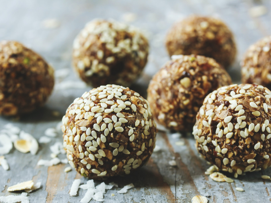 protein balls - oat banana