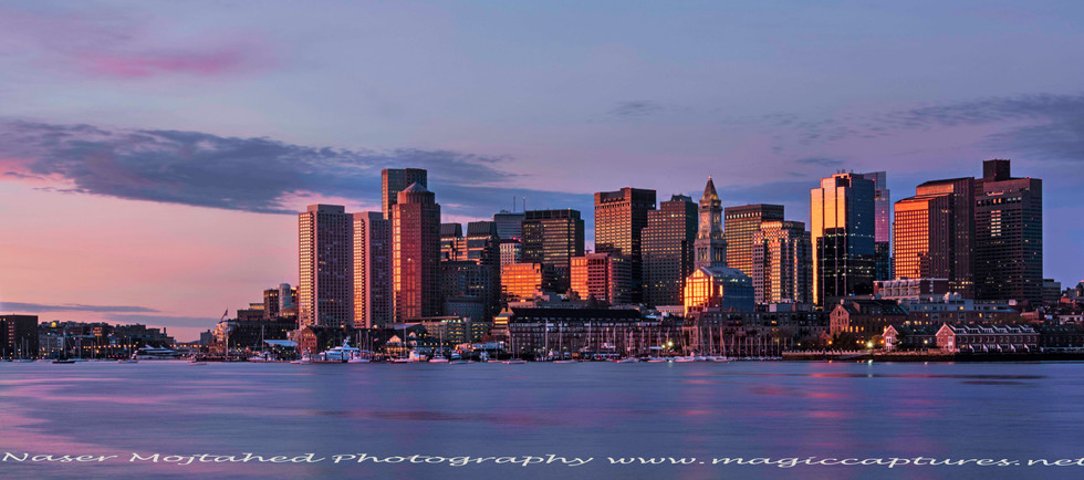 Boston Harbor, sunrise