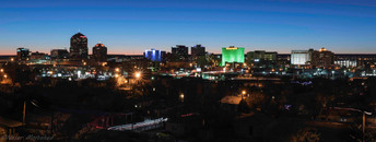 Night view of Albuquerque downtown