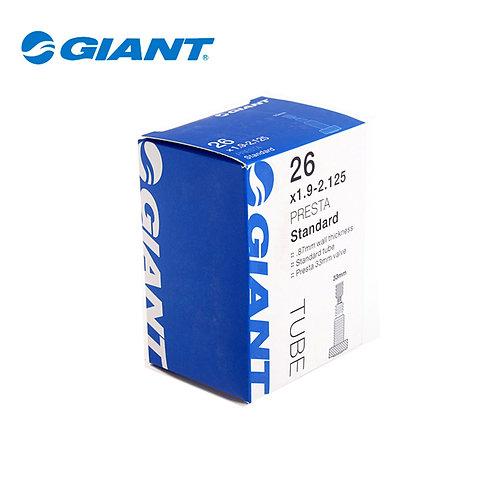 """Cámara Giant con Anti-pinchante y válvula Presta 26"""" x 1.9 - 2.125"""