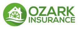 Ozark Insurance Logo (Black and Green)