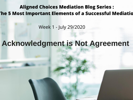 Acknowledgement Is Not Agreement