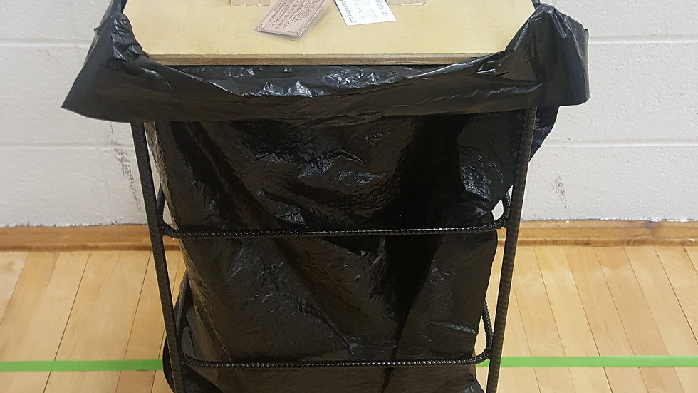 Large Rectangular Waste Can - Holds 30 gallon bag
