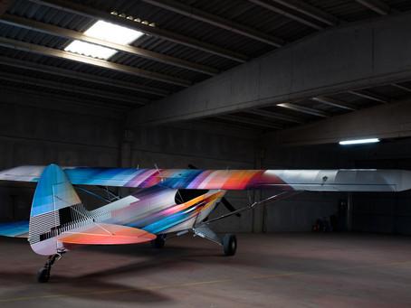 Felipe Pantone Designs One-Off 'INTR3PID' Carbon Cub Airplane