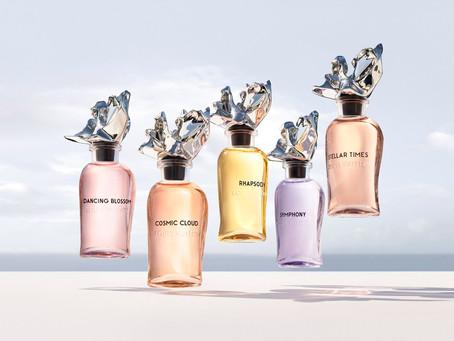 Frank Gehry tops Louis Vuitton perfume bottle with aluminium flower