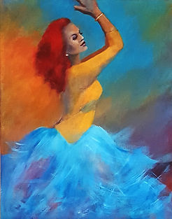 Dancer 11 x 14 in Acrylic on canvas boar