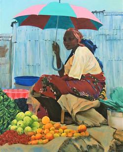 Lady and Umbrella