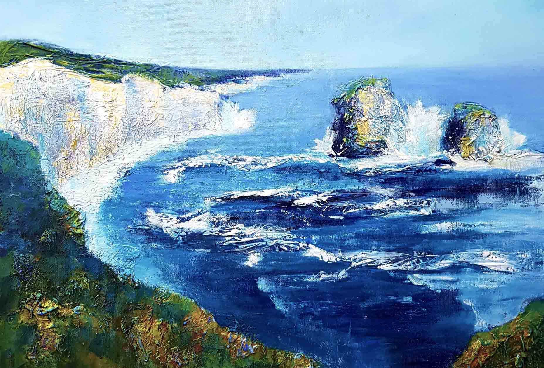 Cliff View by Genevieve Brown Mixed Medi