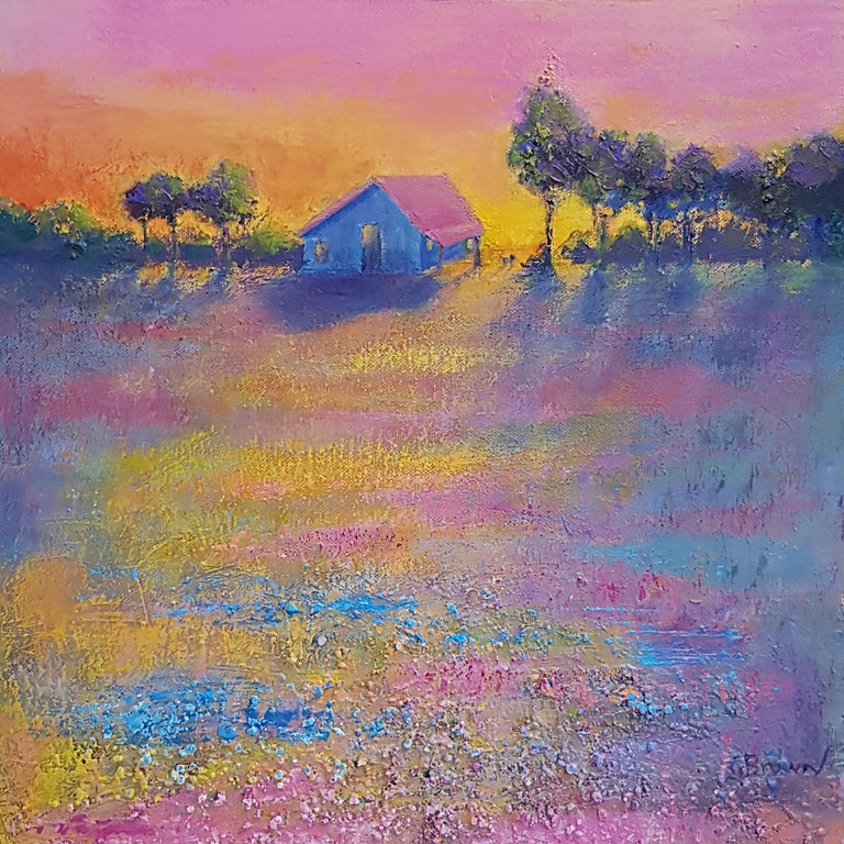 Cranberry Fields Genevieve Brown 32cmx32