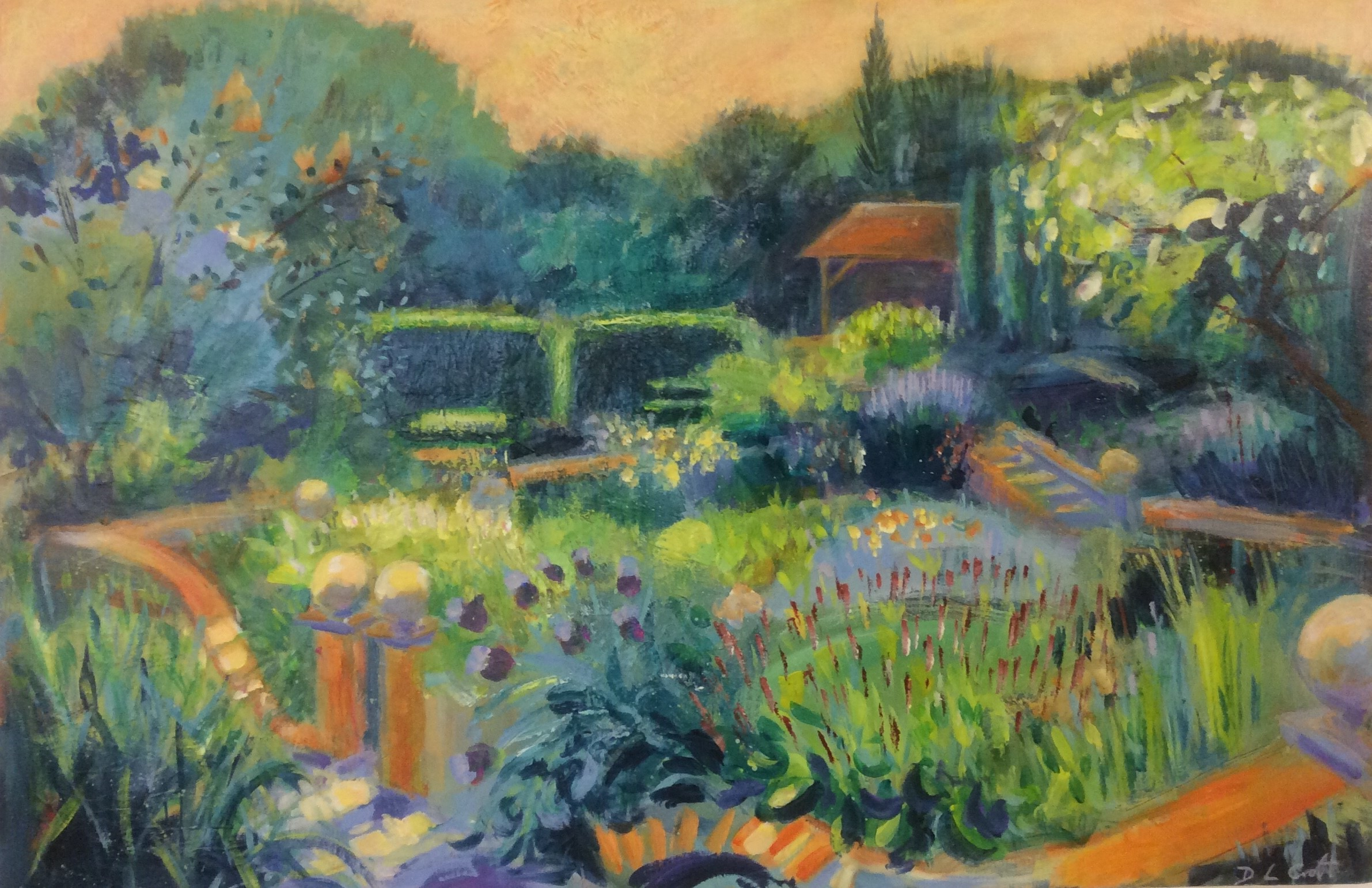 The Walled Garden - 92 x 61 cms