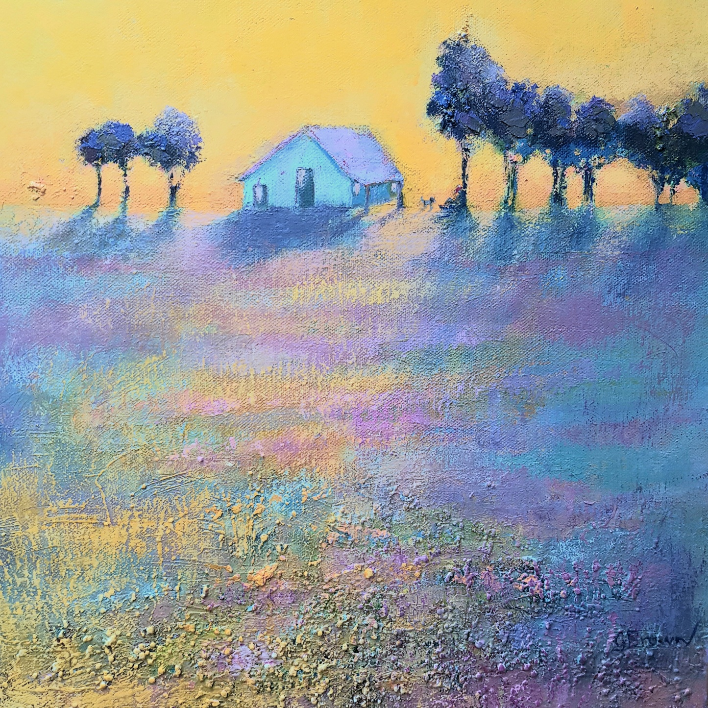 GB Country Home Acrylic on Box canvas sm