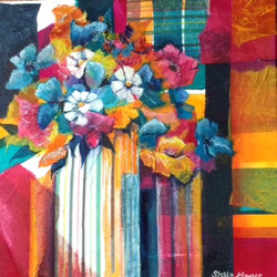 Striped Vase by Stella Mance