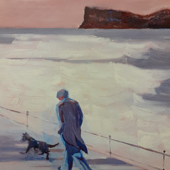 Walking the dog by Judy Staight