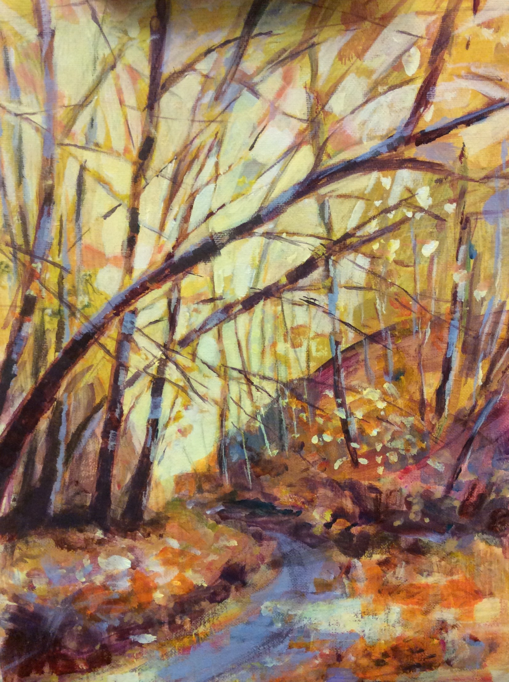 Autumn Colours by Diana Croft acrylic 30