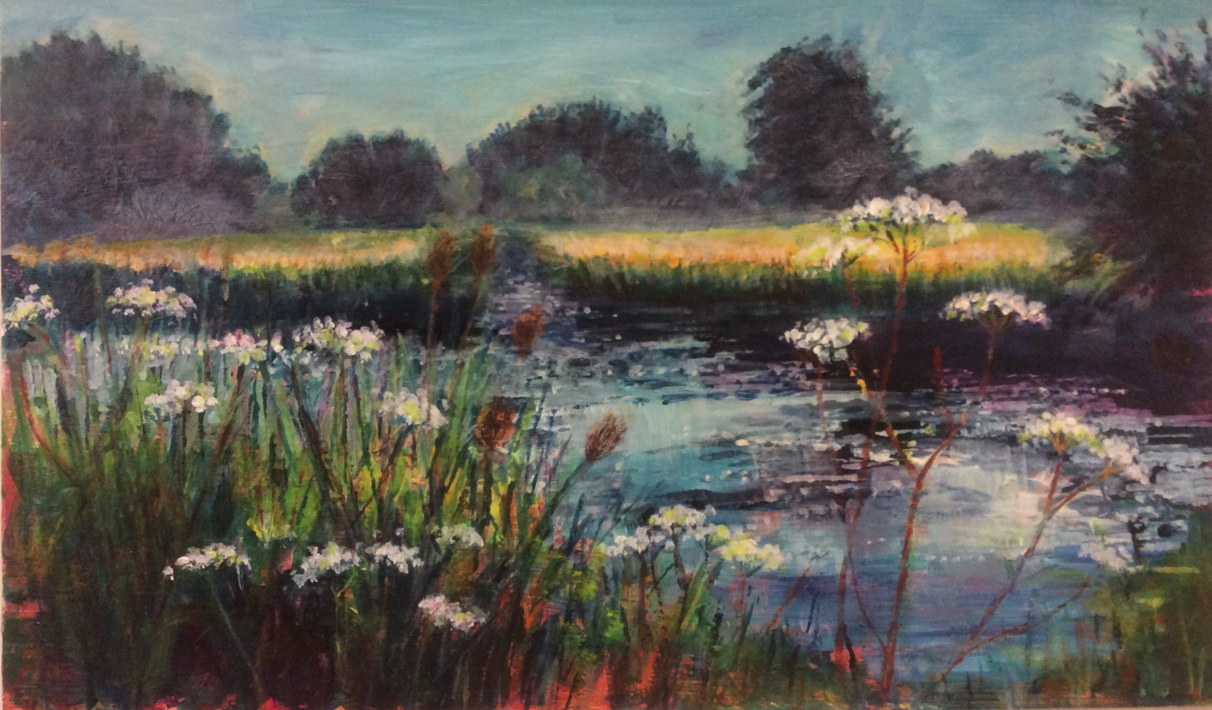 The River Wey - 48 x 33cms - framed