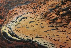 Eruption by Jackie Pearce oil on canvas.