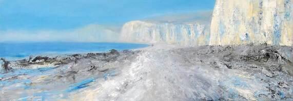 Walk in Grandeur 120x40cm oil on canvas
