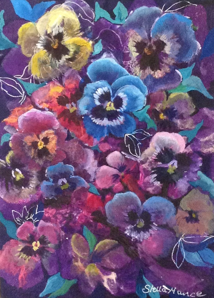 Pansies by Stella Mance