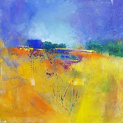 Hazy Summer Acrylic on Canvas by Genevie