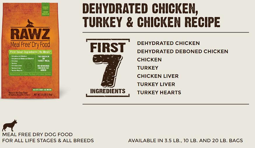 Rawz Chicken Turkey Dog Food