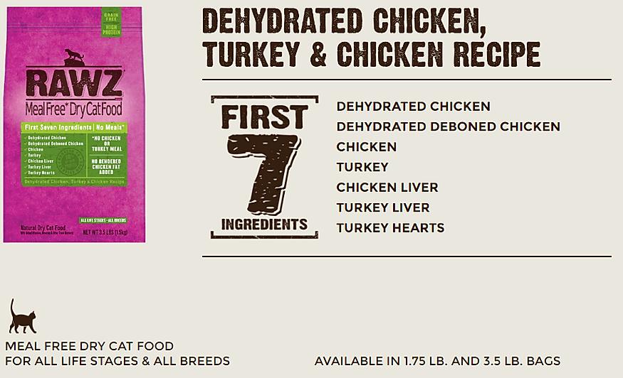 Rawz Chicken Turkey Cat Food
