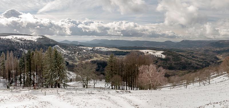 paysage montagneux en hiver