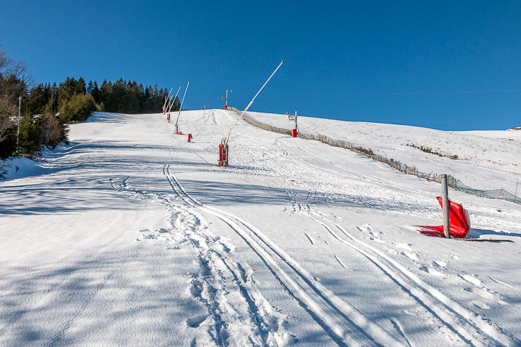 pistes de ski désertes