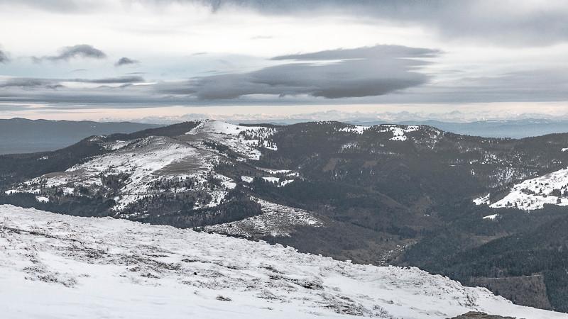 Massif montagneux et chaîne des Alpes