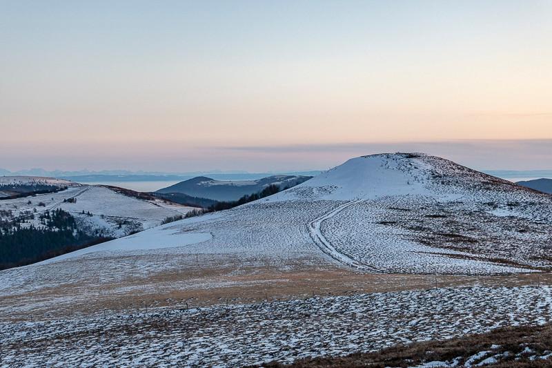 collines en hiver