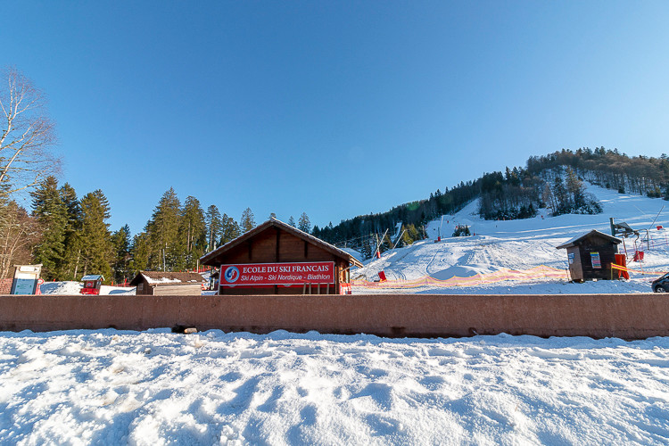 piste de ski alpin dans les Vosges
