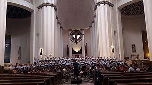 Belfast Philharmonic Choir performing in Katowice