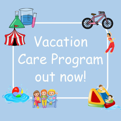 December/January Vacation Care is now live!