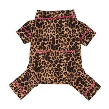 Leopard Flanel Pajamas