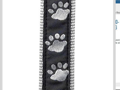 Black Pawprint Leash