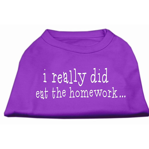 I really did eat the homework